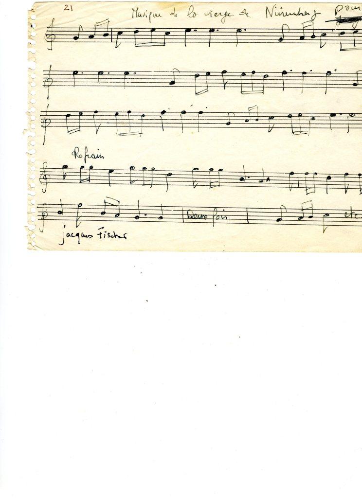 Partition de la chanson qui clôt la Chambre de Rogojine.